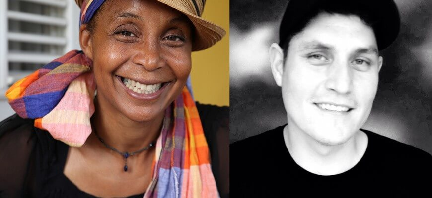 Véronique Kanor & Tyler Pennock in a writing residency